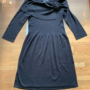 WHBM Silk/Wool Off The Shoulder Sweater Dress